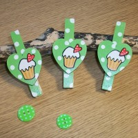 Green Cupcake Magnets