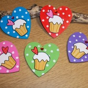 Love Heart Cupcake Magnets