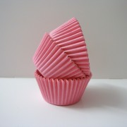 Pink Solid Cupcake Cases