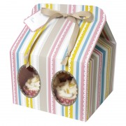 Pink Stripe Cupcake Box Large