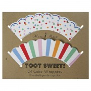 Toot Sweet Cupcake Wrappers