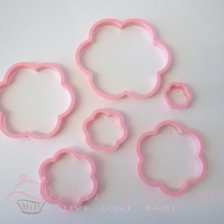 Set of 6 Blossom Cutters