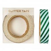 All wrapped up green striped tape