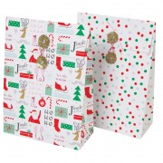 All wrapped up pattern and spots gift bags