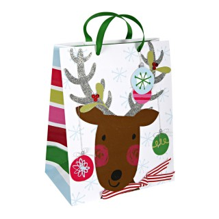 Reindeer and baubles large bag