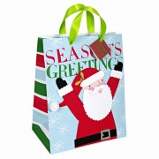 Season greetings large santa bag