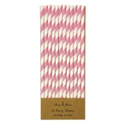 Pink and White Party Straws