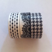 Black and White Patterned Paper Tape