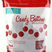 PME Candy Buttons Vanilla Red