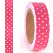 Pink Dots Fabric Masking Tape
