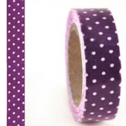 Purple Dots Fabric Masking Tape
