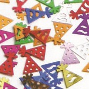 Multicoloured Table Confetti Party Hats
