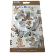 Sams Cupcakes PME set of 3 Teddy Cutters