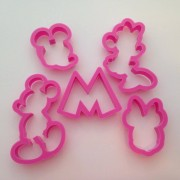 Mickey and Minnie Mouse Cutters