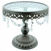 10 Inch Silver Shabby Chic Cake Stand