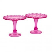 Pavoni Plastic Pink Cupcake Stands - 2 pack